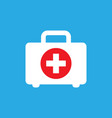 first aid kit icon in flat style health help and vector image