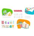flat school elements set vector image vector image