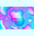 geometric neon fluid shapes background vector image vector image