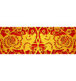 gold on red pig horizontal banner for chinese new vector image vector image