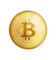 golden bitcoin coin symbol vector image