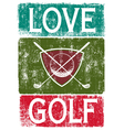 Golf lover vector image vector image