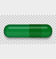green medical pill on a transparent background vector image