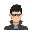 guy face cartoon vector image