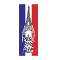 Hand drawn concept logo with Eiffel Tower for the vector image vector image
