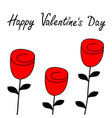 happy valentines day rose flower blossom icon set vector image vector image
