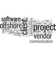 how to succeed in offshore software vector image vector image