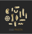 icon and logo for italian pasta or noodles vector image vector image