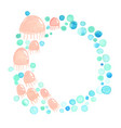 jellyfish with bubble water banner watercolor vector image