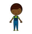 little boy cartoon isolated icon vector image