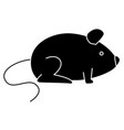 little mouse isolated icon vector image vector image