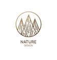 logo mountain abstract landscape vector image