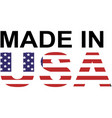 made in usa logo vector image vector image