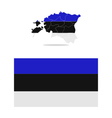map estonia vector image vector image