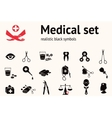 Medical icon set Health and medicine tool symbols vector image