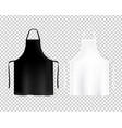 mockup white and black aprons isolated vector image