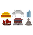 modern and ancient architecture and cultural vector image vector image