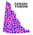 mosaic yukon province map of circle dots vector image vector image