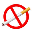 no smoking sign stop smoking symbol vector image vector image