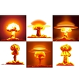 Nuclear explosions set vector image