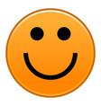 orange smiling face cheerful smiley happy emoticon vector image