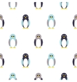 Penguin blue purple on white kid pattern vector image vector image
