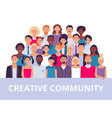 people group multiethnic community portrait vector image vector image
