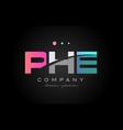 phe p h e three letter logo icon design vector image vector image