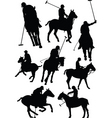 polo silhouettes vector image vector image