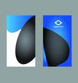 premium business card design vector image vector image