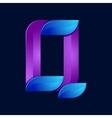 Q letter volume blue and purple color logo design vector image