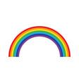 rainbow isolated on white background icon flat vector image vector image