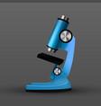 realistic blue bio laboratory microscope vector image
