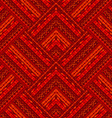 Red ethnic geometrical background vector image vector image