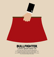 Red Fabric of Bullfighter vector image