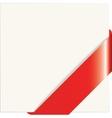 Red paper corner vector image vector image