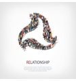 relationship people sign 3d vector image vector image