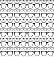 seamless pattern sunglasses frames vector image vector image