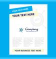 seo title page design for company profile annual vector image vector image