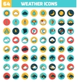 Set of colorful flat icons about the weather vector image vector image