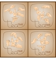 set Tea Time pattern of Cup hands teabag vector image