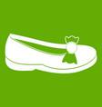 shoe icon green vector image vector image