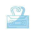 silhouette cassette to listen and play music vector image vector image