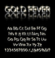 silver english alphabet on a black background vector image vector image