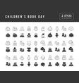 simple icons children book day vector image vector image