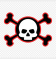 skull and crossbones icon danger pirates vector image