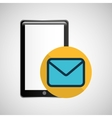 smartphone black message email graphic vector image vector image