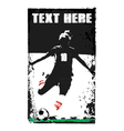 soccer girl poster vector image vector image