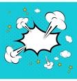 Speech bubble in pop-art style vector image vector image