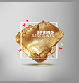 spring sale off sign vector image vector image